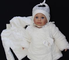 Babaluno BABY KIND MADCHEN TAUFE Weiss MANTEL JACKE NEU ENGLAND MODE GR80/86/92