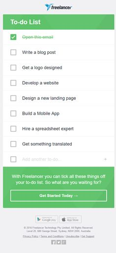 freelancer email marketing campaigns