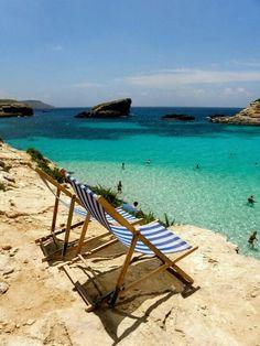 Comino off the coast of Malta