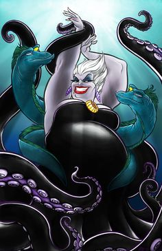 "Disney Villians - Ursula, The Sea Witch - ""The Little Mermaid"" Ursula Disney, Disney Little Mermaids, Ariel The Little Mermaid, Disney Dream, Disney Love, Disney Magic, Disney And Dreamworks, Disney Pixar, Walt Disney"