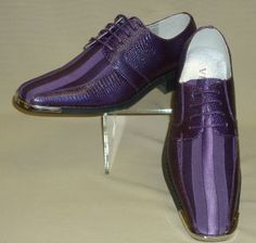 purple men's clothing | Mens Purple Satin Silvertip & Faux Croco Formal Dress Shoes Viotti