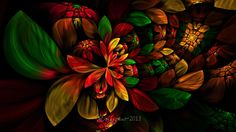 Christmas Woodland Floral by wolfepaw on DeviantArt
