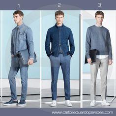 Si tu trabajo no requiere un código de vestimenta estrictamente formal te comparto 3 alternativas casuales y modernas para un día de trabajo. ¿Cuál es tu favorita? ¿1, 2 ó 3? #ModaMasculina