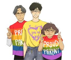 Awwww, Katsuki parents supporting they're pure and gay son