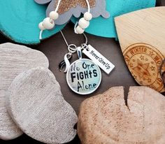 BW-5 CVID Necklace Ehlers Danlos Awareness Jewelry No One Fights Alone Jewelry EDS Awareness Endocrine Cancer Chemo Gift For Her