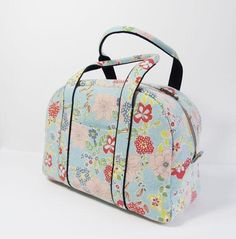boston bag sewing pattern. nice fabric also.. #sewing #pattern #diy