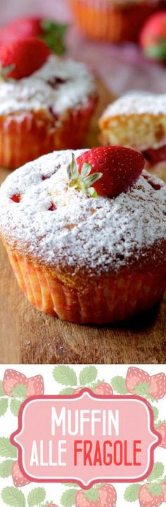Muffin alle fragole soffici