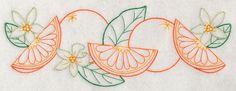 Orange & Blossom Border (Vintage)