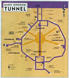 "Disney's ""secret tunnels"". This is really cool!"