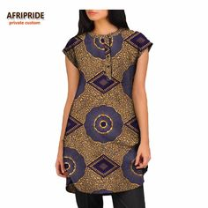 summer season informal shirt for ladies AFRIPRIDE african print brief sleeve thigh size girls shirt pure cotton Short African Dresses, African Blouses, African Tops, African Shirts, African Women, African Lace, African Fashion Ankara, Latest African Fashion Dresses, African Print Fashion
