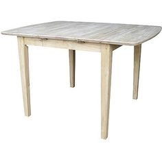 Attractive International Concepts Unfinished Clarkson Shaker Leg Dining Table With  Butterfly Extension