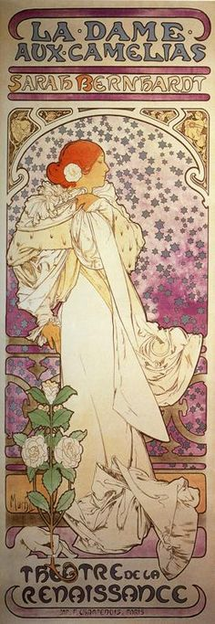 Another Mucha print also featured in my home.  It cheers me several times daily as I traverse our stairs.  It's featured in a niche in the landing.  When I get older I suppose I'll rest there.  :)