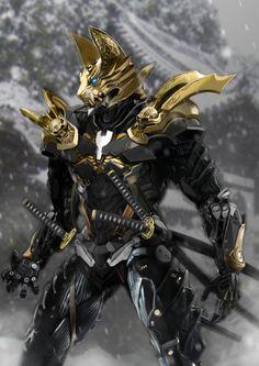ArtStation - Cyborg Samurai, HARRY YCH