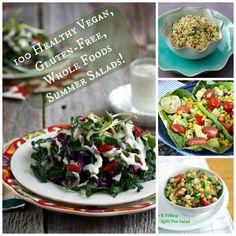 100 Healthy Vegan Salads on rickiheller.com