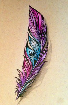Henna Feather by robinelizabethart.deviantart.com on @DeviantArt