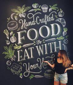 Beautiful lettering and artwork! A gorgeous piece. Lauren Hom at it again Blackboard Art, Chalkboard Lettering, Chalkboard Designs, Typography Letters, Brush Lettering, Lettering Design, Branding Design, Lauren Hom, Beautiful Lettering