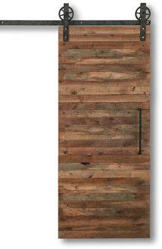 """Reclaimed Slat Barn Door, 36""""x84"""" rustic-interior-doors"""