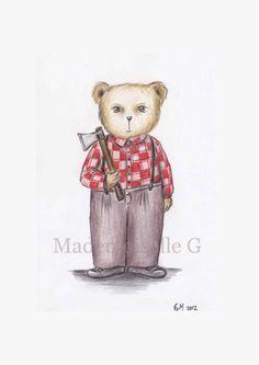 NEW The Lumberjack Teddy by MademoiselleG on Etsy