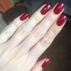O.P.I - Malaga Wine ~~ looks like their 'chick flick cherry' that I love - dark red like this