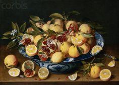 Still life with lemons oranges and a pomegranate  - Jacob van Hulsdonck