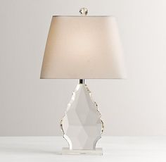 "Grand Faceted Crystal Table Lamp Base (W6"" x D4"" x H24.5"" / 75W max) $179USD"