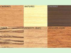 Keuze uit verschillende soorten bamboe voor het tafelblad en de poten.