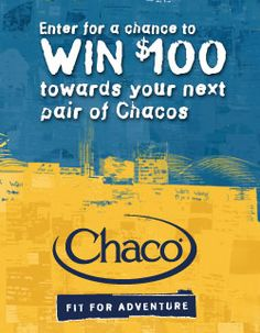 Chacos Monthly Shoe Giveaway
