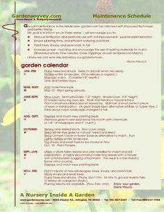 Lawn care schedule my garden pinterest lawn care for Garden maintenance schedule