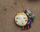 Whimsical  Bug (wall hanging).