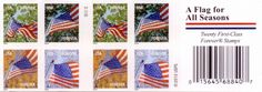 USPS A Flag For All Seasons First-Class Forever Postage Stamps (20 Count)