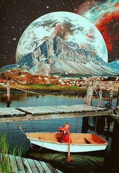 Retrospective Nostalgia-Collage Art By Ayham Jabr. #LandscapeCollage