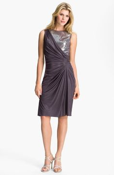 Adrianna Papell Sequin Jersey Drape Dress (Petite) available at #Nordstrom