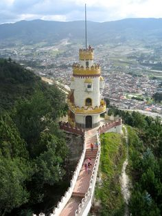 A mirador (viewpoint) above Loja, Ecuador. Loja holds a rich tradition in the arts, and for this reason is known as the Music and Cultural Capital of Ecuador. The city is home to two major universities.