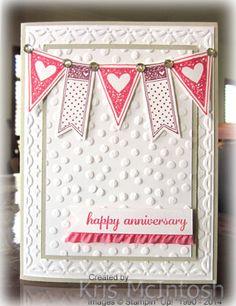 Stampin' UP! stamp set Language of Love, Framed Tulips embossing folder, SAB 2014 Decorative Dots embossing folder;Techostamper Challenge 296