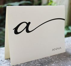 Wow...Simple is powerfull Monogrammed Stationery Folded Note Cards by camispaperie on Etsy, $16.95