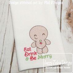 Gingerbread Boy 125 Sketch Embroidery Design
