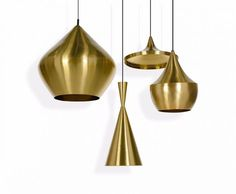 A series of lights in four distinctive pendant shapes: Stout, Wide, Fat and Tall. Inspired by the sculptural simplicity of traditional Indian water vessels and available in four finishes all with a warm interior of beaten brass or silver plate.