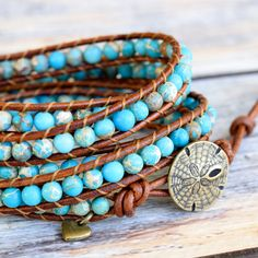 This item is unavailable Gold Sand, Bohemian Accessories, Layered Jewelry, Beaded Wrap Bracelets, Organza Gift Bags, Bracelet Designs, Leather Jewelry, Gemstone Beads, Turquoise