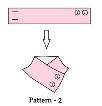 Diy Crafts - After you're done sewing the main fabric for the neck warmer it's time to add the buttons. I've attached 4 templates of the 4 neck warmer Sewing Basics, Sewing Hacks, Sewing Tutorials, Sewing Crafts, Sewing Projects, Diy Crafts, Techniques Couture, Sewing Techniques, Knitting Patterns