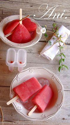 La Cocina de Ani: Polos de sandía, pura fruta, refrescante y sin cal...
