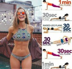 Get those abs to shape 6 pack this summer with easy home plank workout. It takes only 5 min a day. No equipment needed so there is no excuse. Just try and you see it's working.