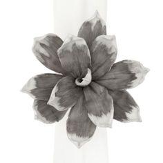 Magnolia Napkin Ring - Grey Set of 4 from Z Gallerie