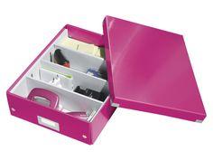 Opbergbox Leitz Click & Store 280x100x370mm roze via #DKVK