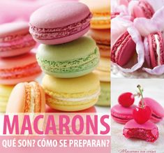 Macarons - Long recipe, see website. Yummy Treats, Sweet Treats, Longest Recipe, Flan, Vanilla Cake, Doughnut, Party Time, Muffins, Cupcakes