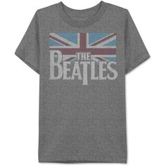Jem Men's The Beatles Flag Graphic-Print T-Shirt ($15) ❤ liked on Polyvore featuring men's fashion, men's clothing, men's shirts, men's t-shirts, men, shirts, men's tops, tops, charcoal s and mens graphic t shirts