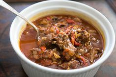 Marinated, slow-cooked, Basque lamb stew with lamb shoulder, garlic ...