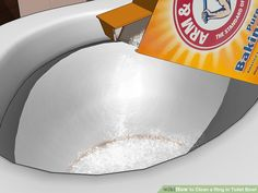 How to Clean a Ring in Toilet Bowl. No matter how hard you try to keep your toilet clean, your porcelain throne may end up with unsightly rings. Fortunately, these eyesores--usually caused by hard water--can be easily (and inexpensively). Homemade Cleaning Supplies, Household Cleaning Tips, Cleaning Hacks, Cleaning Toilet Ring, Clean Toilet Bowl Stains, Toilet Bowl Ring, Clean Rings, Clean House, Victorian