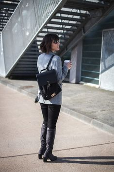Blogueuse mode - Sac à dos noir Gaston Luga
