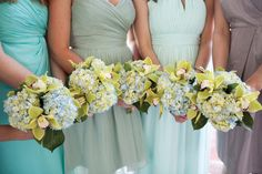 Choosing a Color Scheme: Palettes of the Island • Inspiration for bridesmaid dresses. | Island Weddings