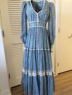 Vintage Gunne Sax dress boho bohemian kawaii babydoll dolly dollykei
